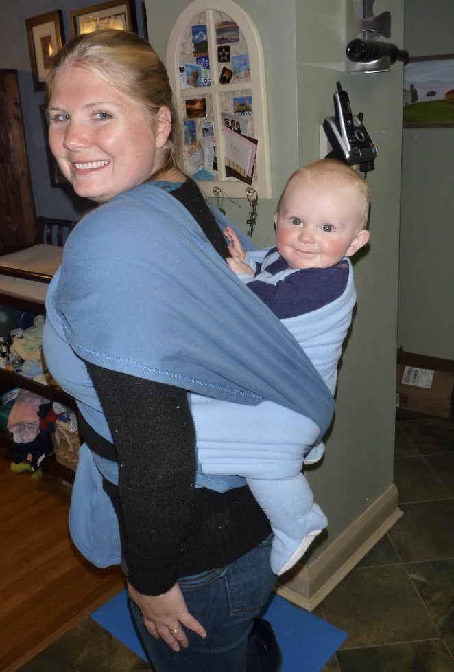 Back Carry - I can't do this one on my own, I need a partner to keep the baby from squirming off my back while I get situated