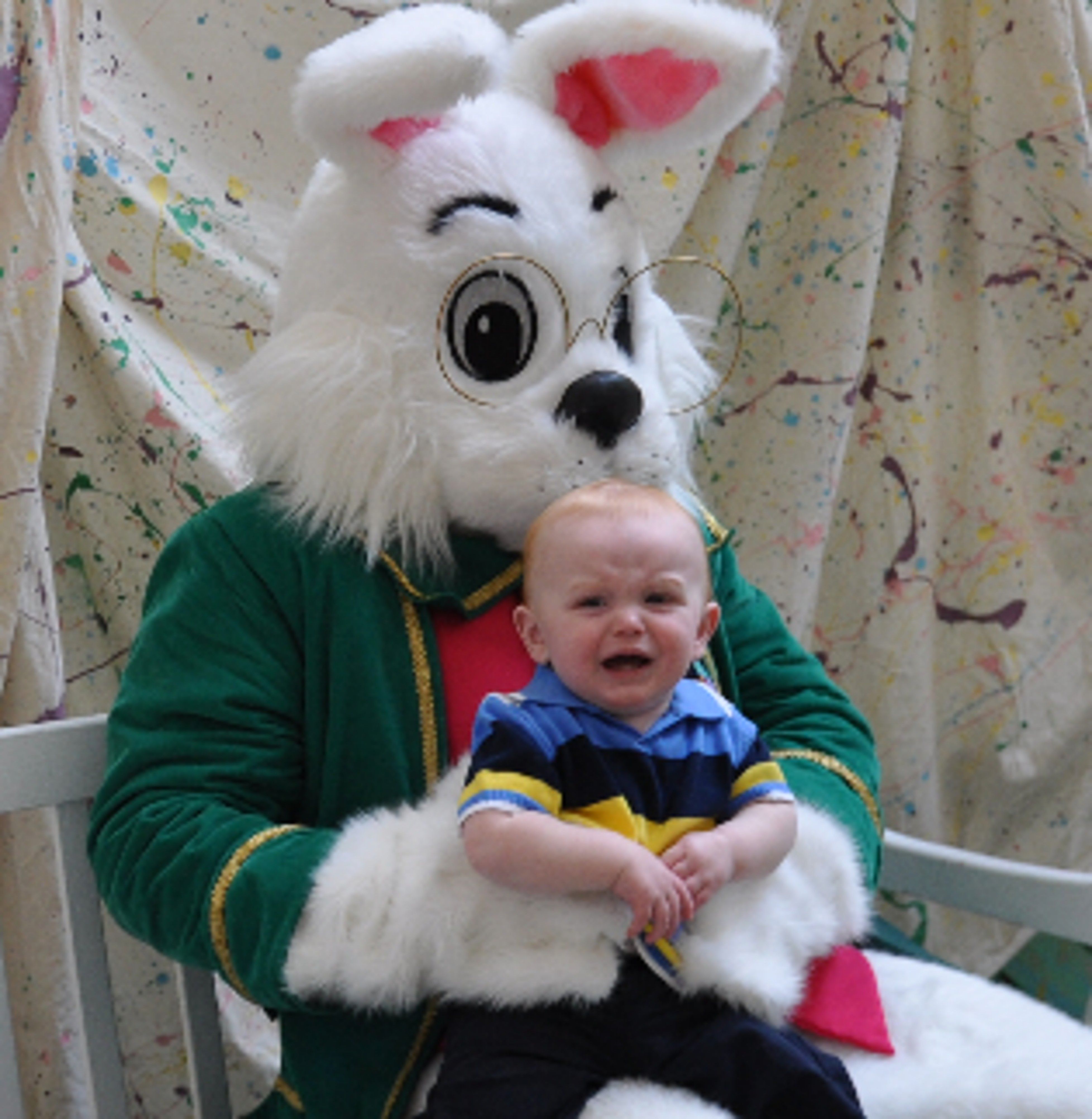 Scary Easter Bunny Photos I gave up taking pictures with