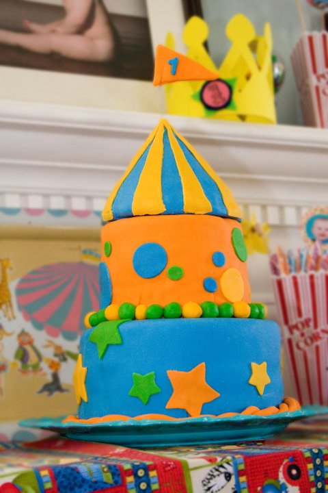 first birthday circus cake