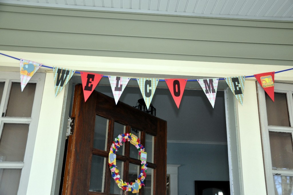 circus birthday party banner