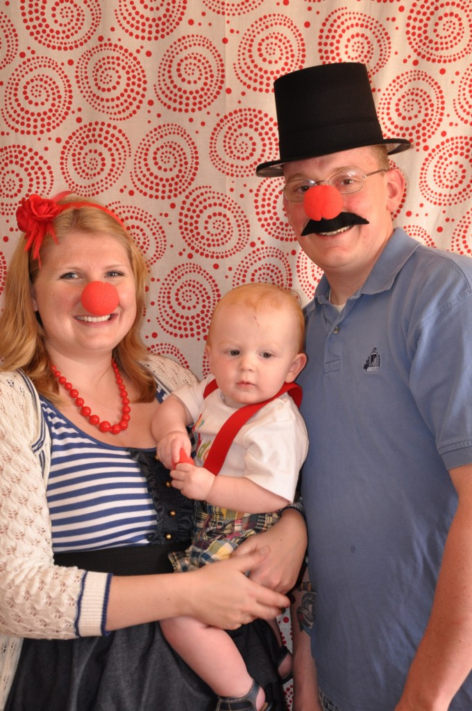 circus birthday party photo booth