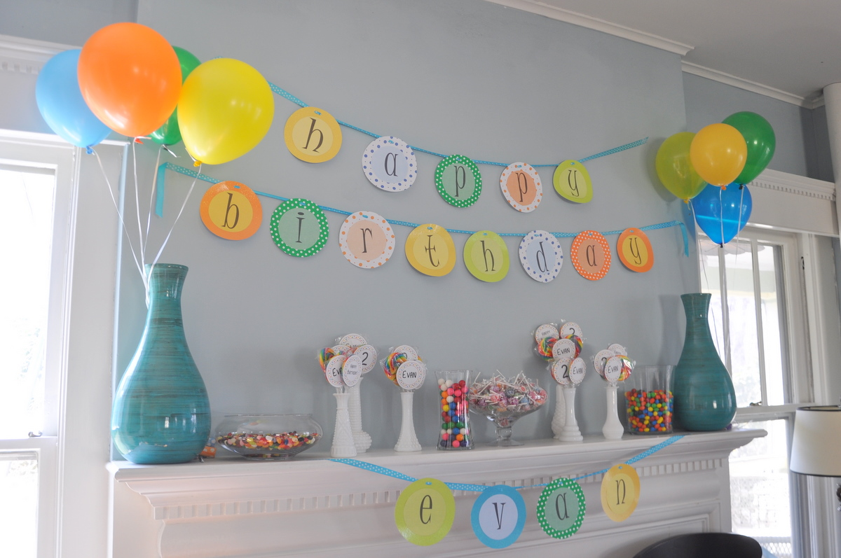 Evans Second Birthday Decorations
