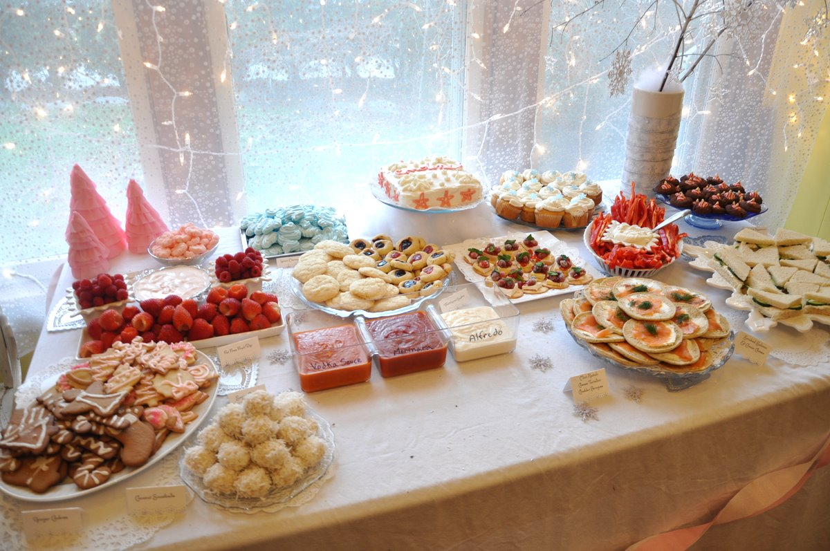 Birthday Party Dinner Menu Ideas Part - 43: Winter Sparkle Snowflake First Birthday Party Food