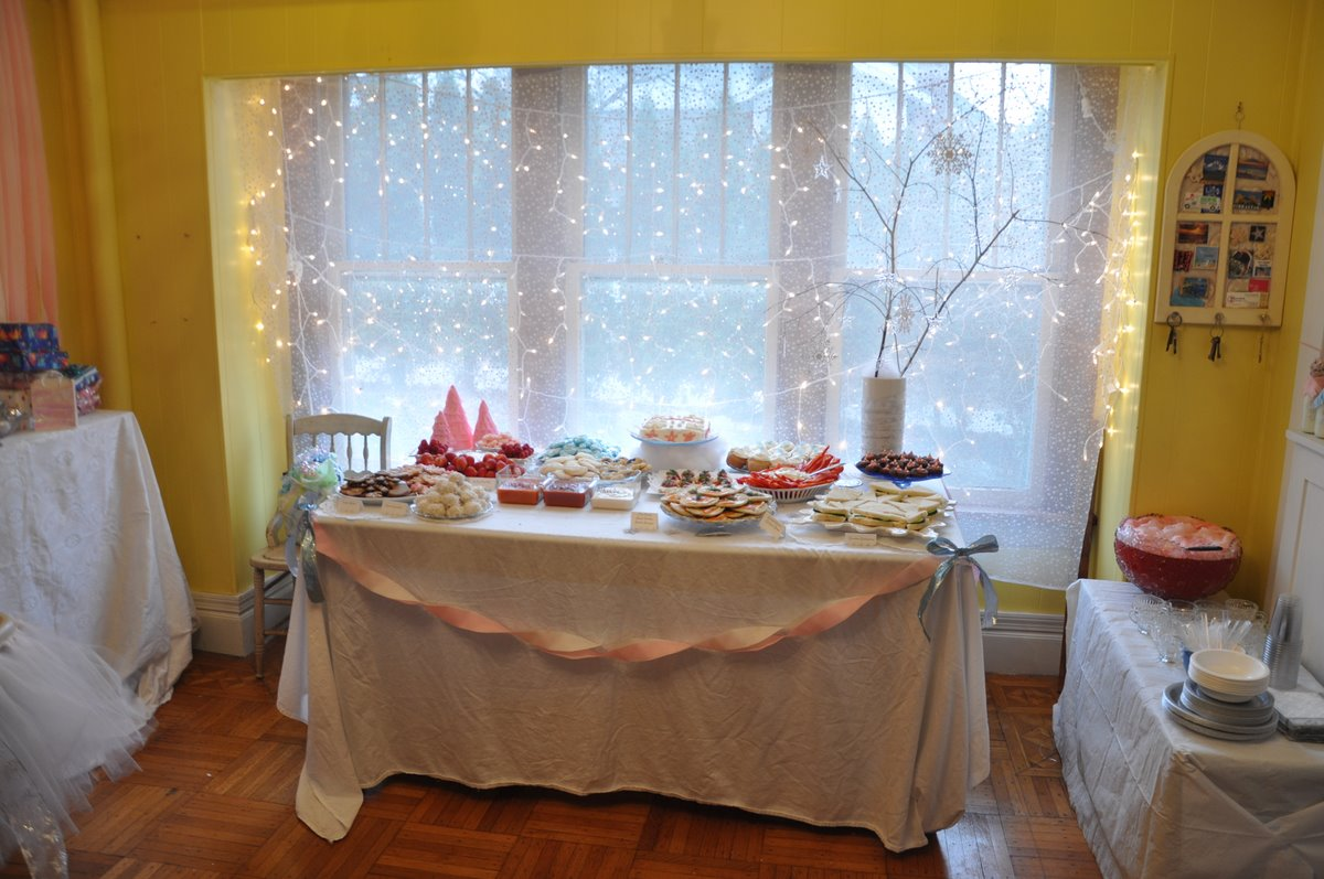 Winter Snowflake Sparkle First Birthday Party