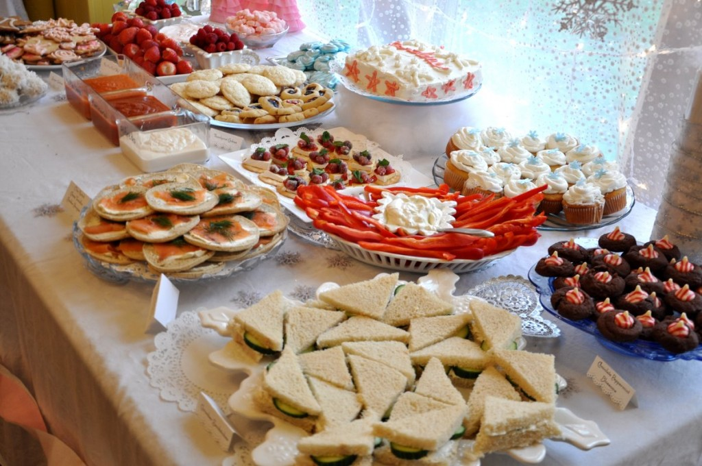 Winter Sparkle Snowflake First Birthday Party Food