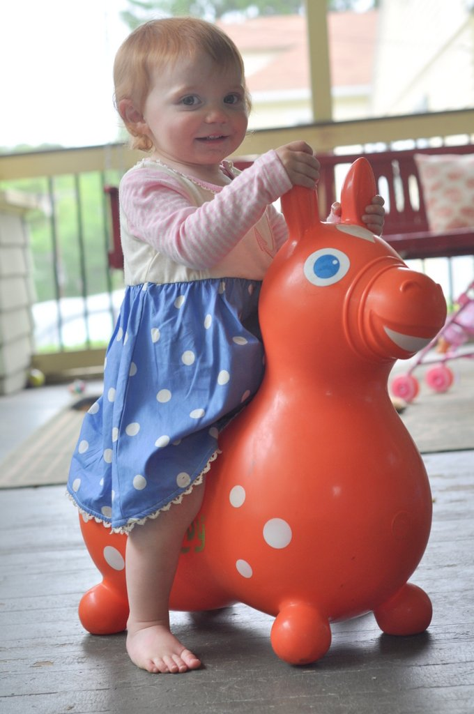 caroline orange rody horse