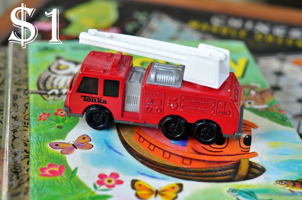 flea market finds tonka fire truck
