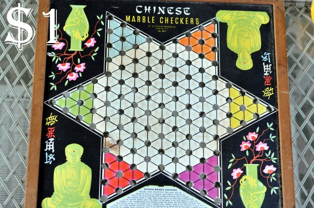 flea market finds vintage chineese checkers