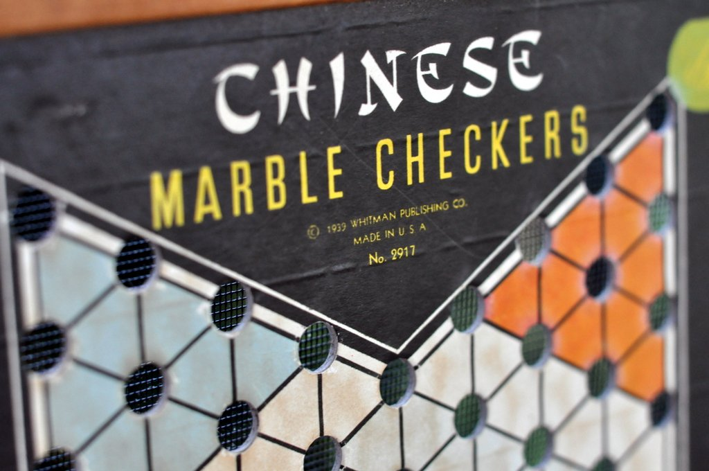 flea market finds vintage 1939 chineese checkers