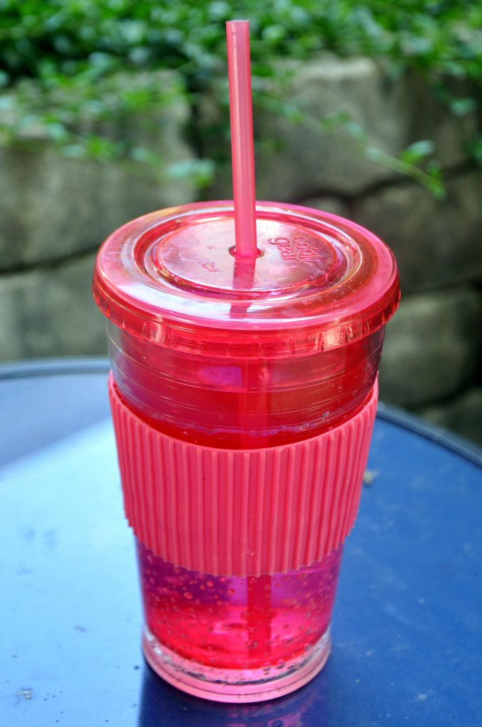 drink more water reusable straw cup