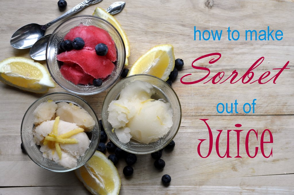 how to make sorbet out of juice