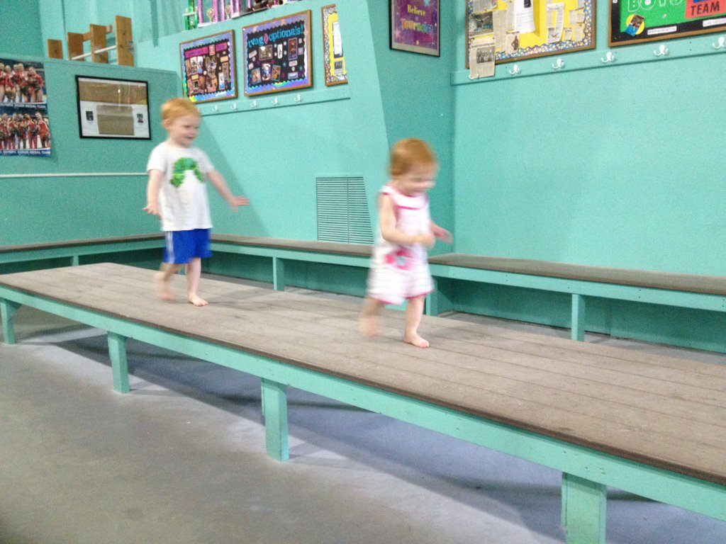 They think this is the world's widest balance beam