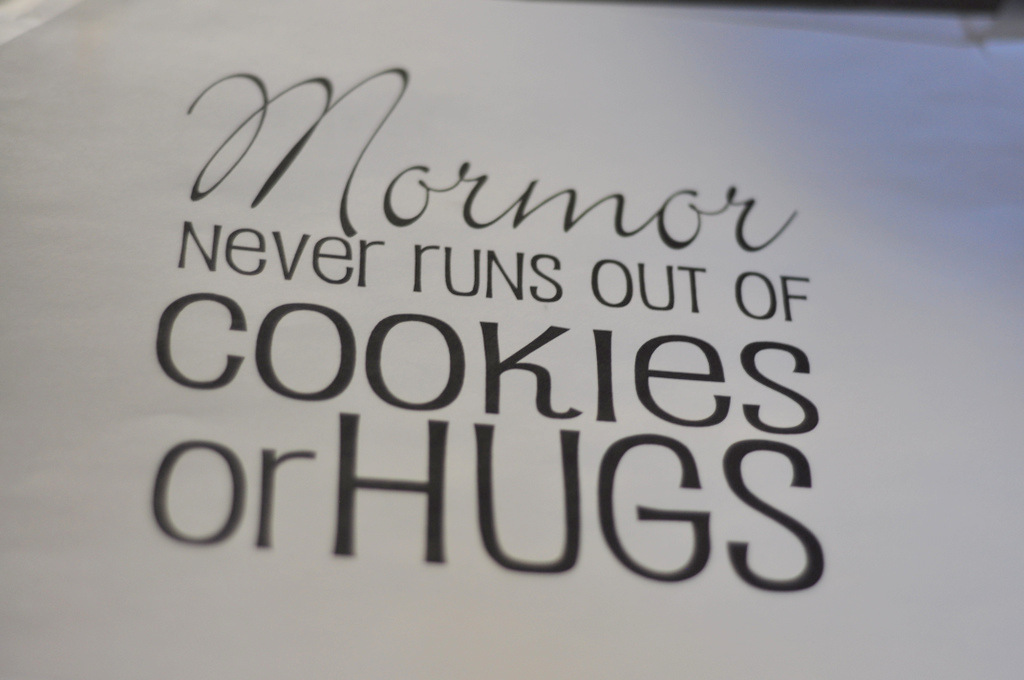 mormor never runs out of cookies or hugs