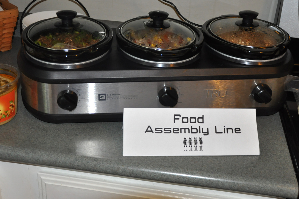 robot birthday party food