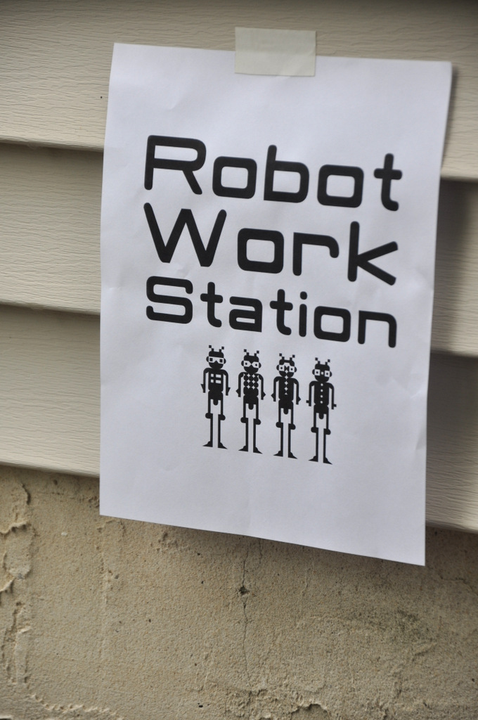 robot birthday party games robot work station