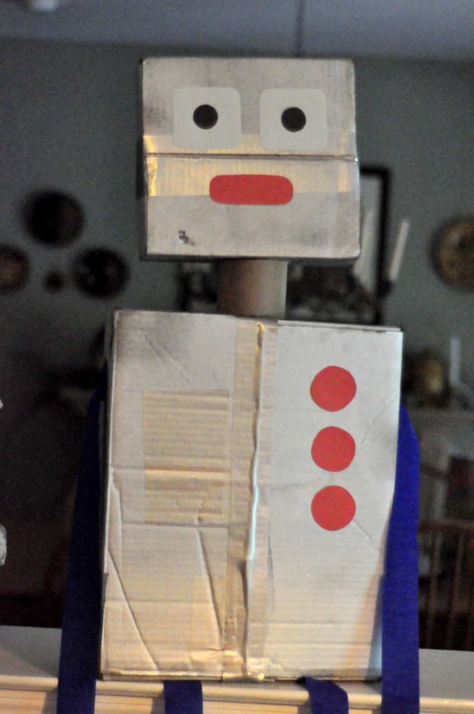 robot birthday party robots out of boxes