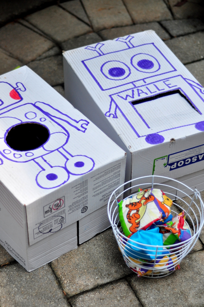 robot birthday party games robot bean bag toss