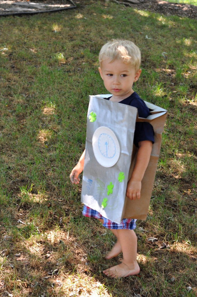 robot birthday party make your own robot froma paper bag