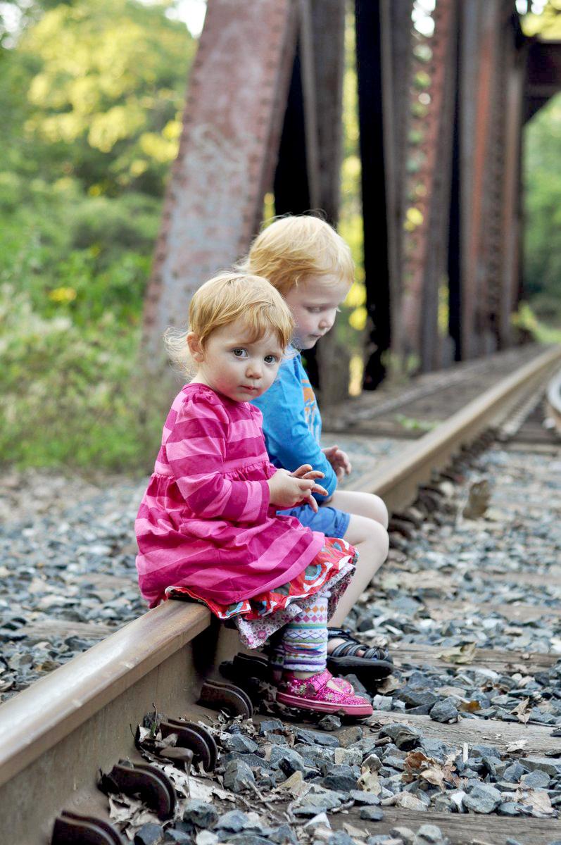 Family Photo Ideas Railroad Tracks Railroad Tracks Bridge Photo