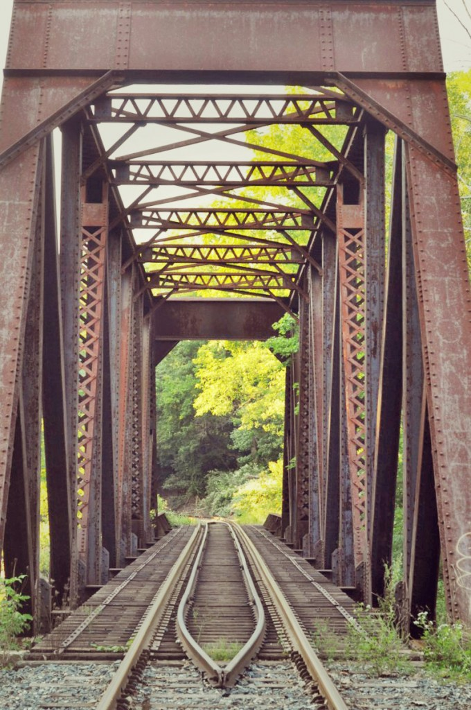 railroad tracks bridge photo shoot