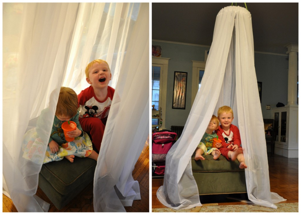 easy no sew play tent