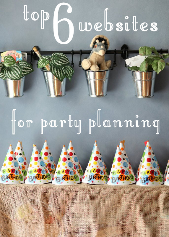 top 6 websites for party planning