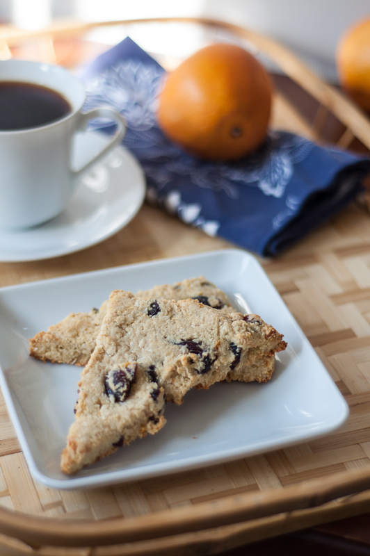 paleo grain free cranberry orange scones