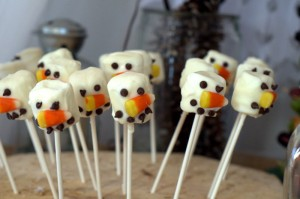 winter fairy birthday snowman pops