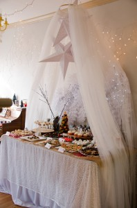 fairy tent over food table