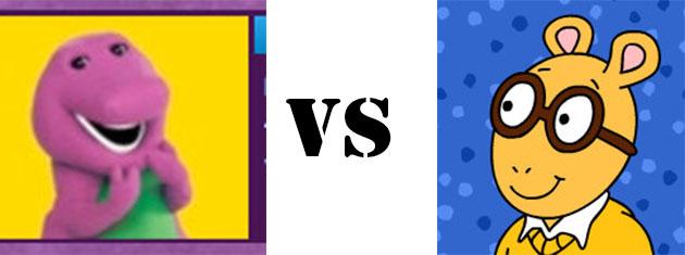 Barney vs Arthur