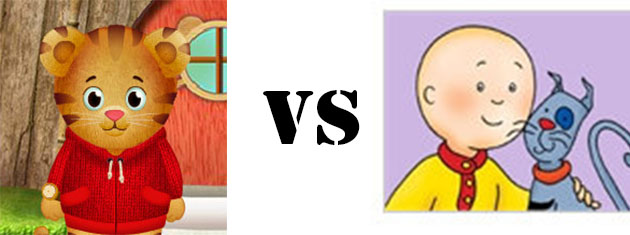 Daniel Tiger vs Caillou