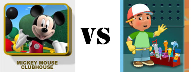 mickey mouse clubhouse vs handy manny