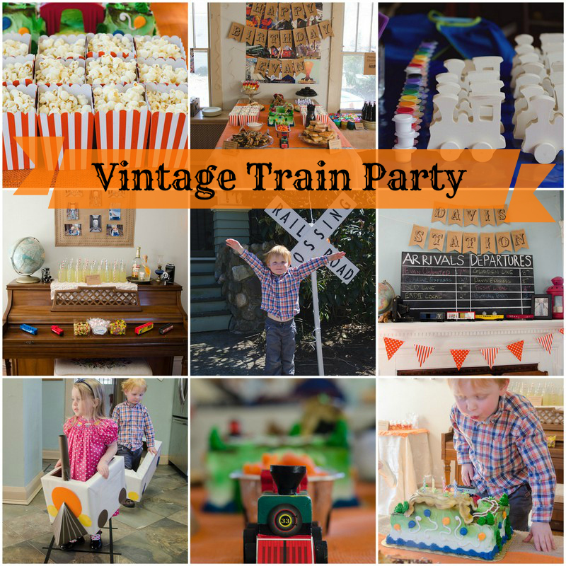 Evans Vintage Train 4th Birthday Party