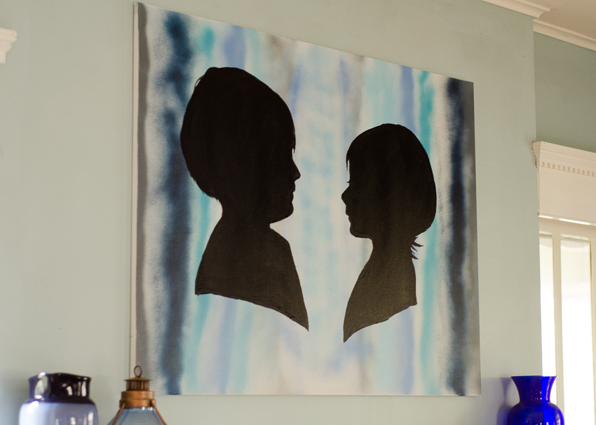 DIY Giant Painted Silhouette Canvas