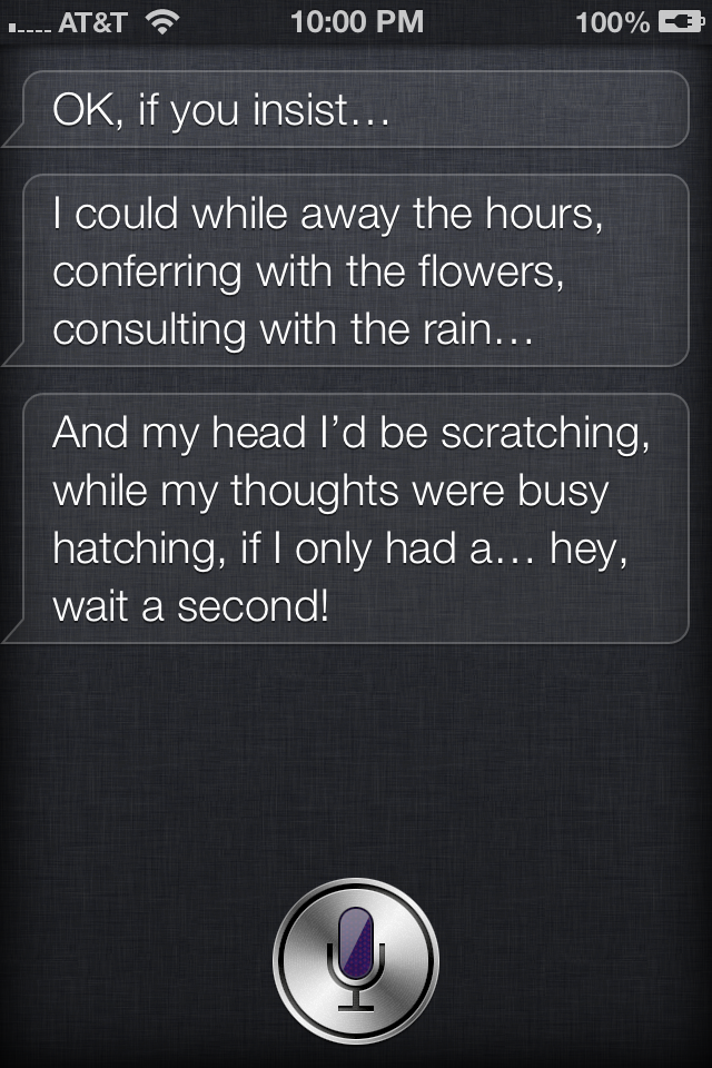 ask siri to sing