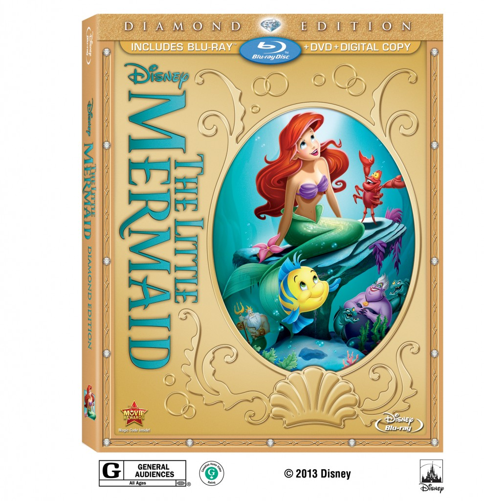 THE LITTLE MERMAID Diamond Edition 2-Disc Blu-ray+DVD Combo Pack with Digital Copy