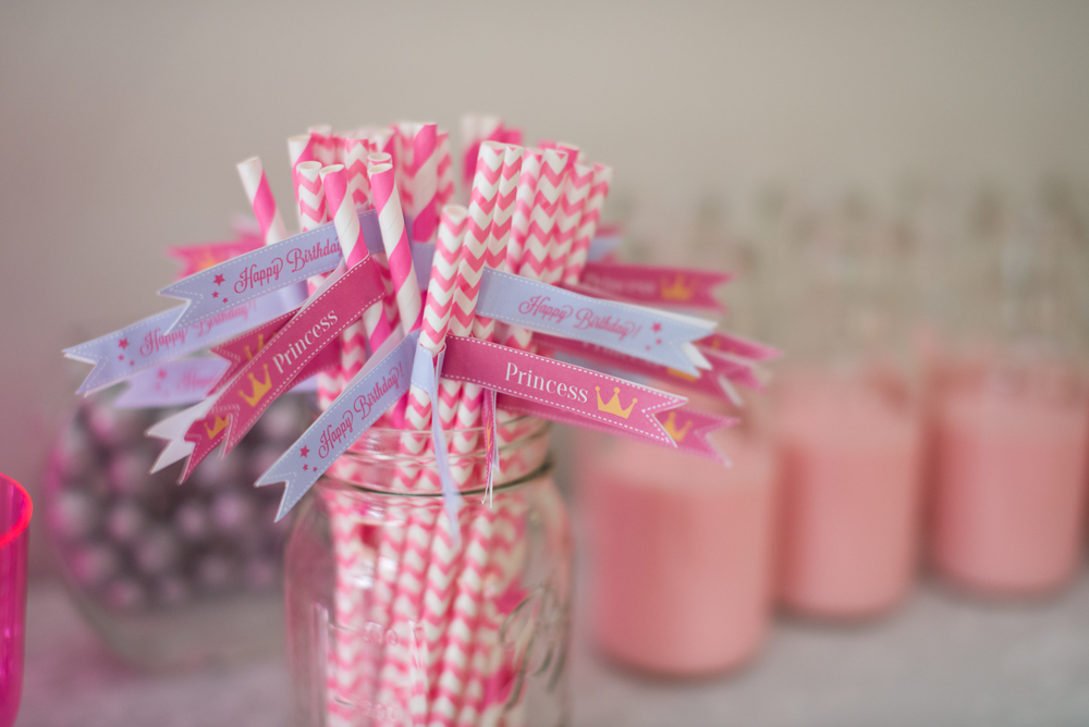 "Strawberry milk in ""milk bottles"" (frappuchino bottles)"