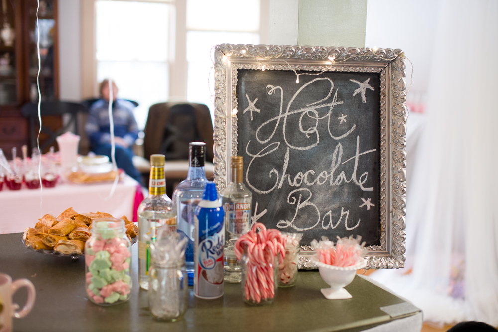 Hot chocolate bar with grown-up options