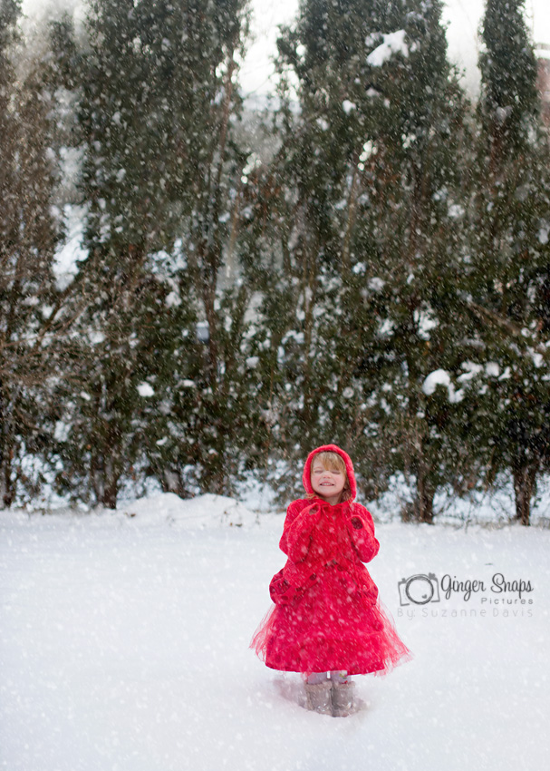 red snow girl