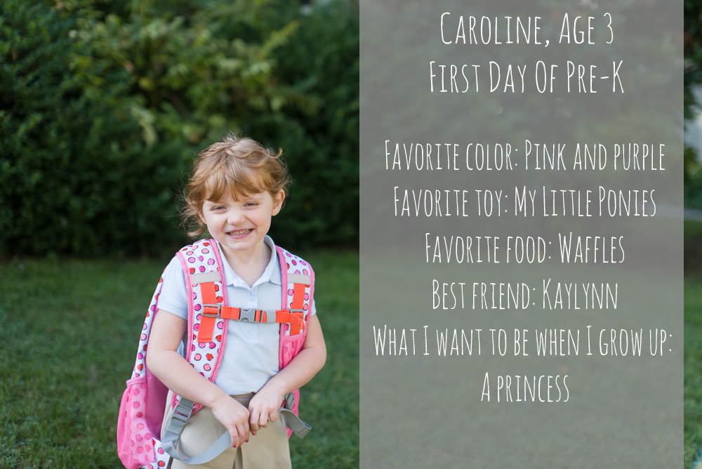 caroline first day graphic