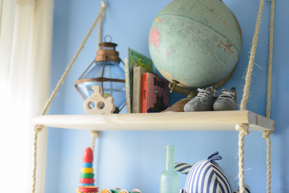 nautical blue and yellow nursery-15