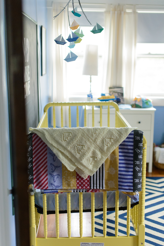 nautical blue and yellow nursery-20