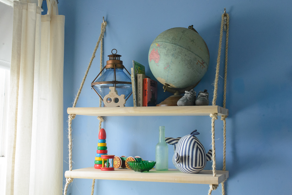 nautical blue and yellow nursery-2