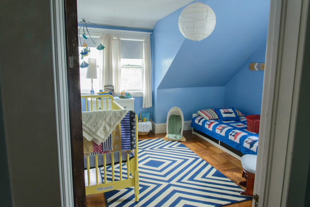nautical blue and yellow nursery-21