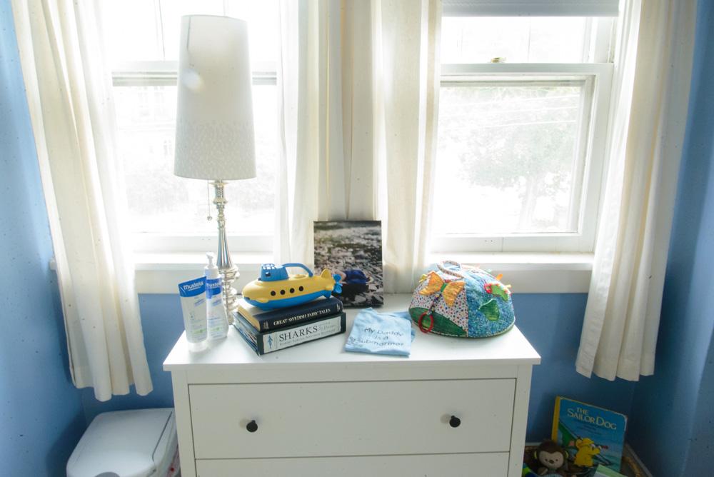 nautical blue and yellow nursery-24