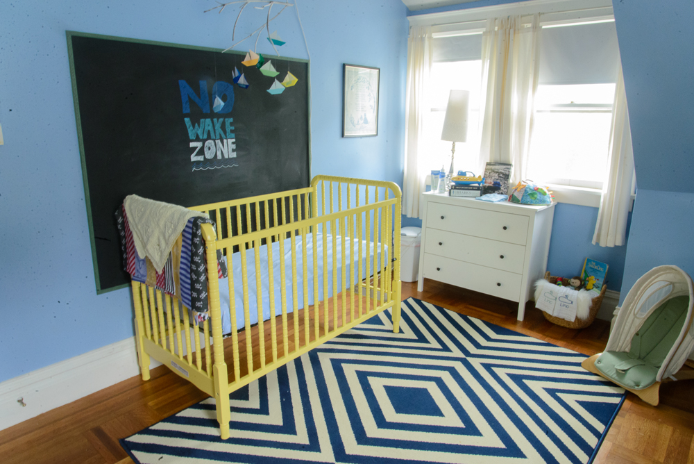 nautical blue and yellow nursery-28