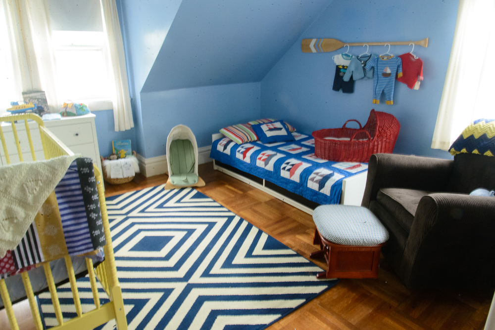 nautical blue and yellow nursery-29