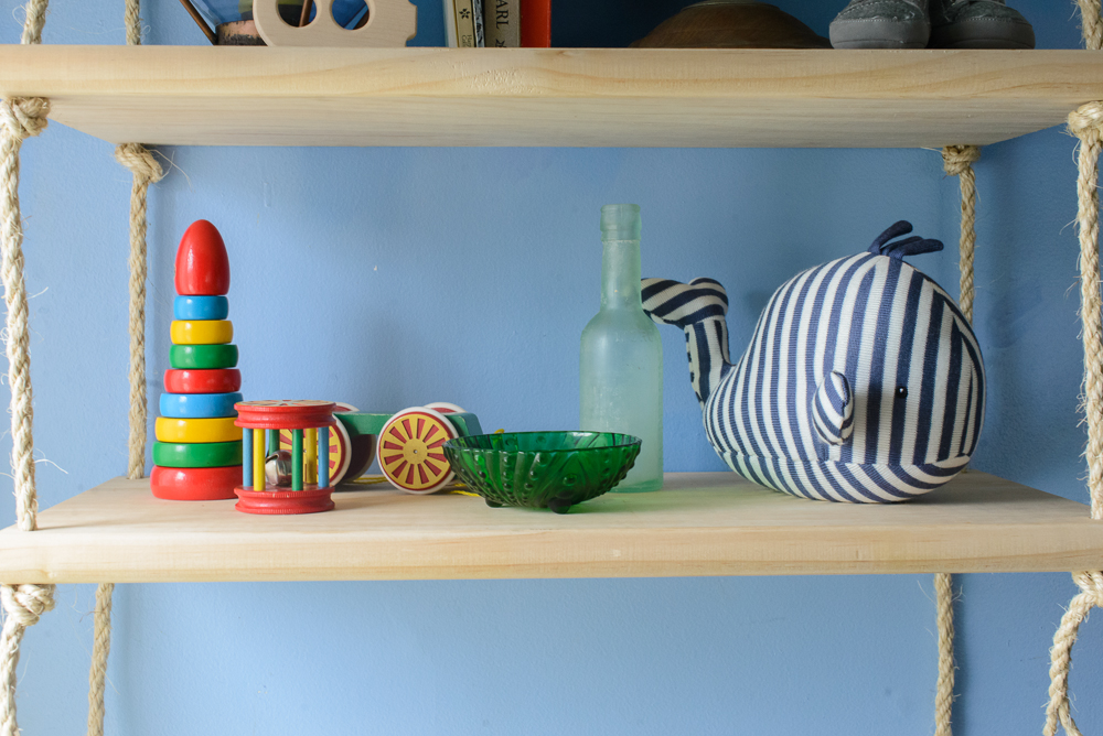 nautical blue and yellow nursery