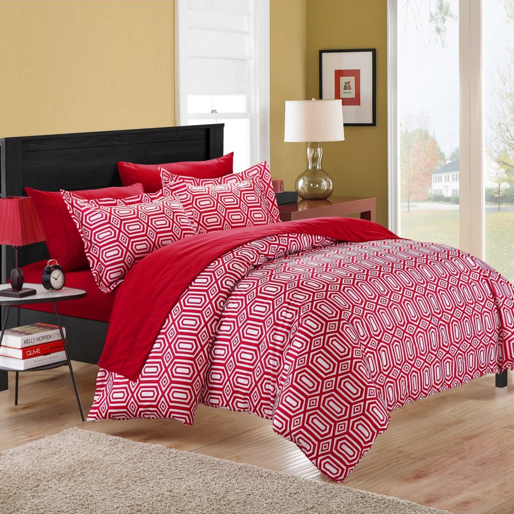 Tina Printed Contemporary 3 Piece Duvet Cover Set