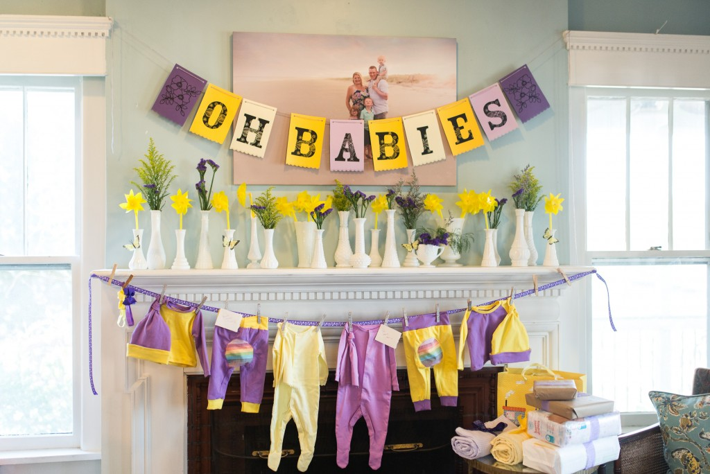 purple and yellow baby shower twins-19